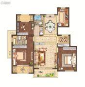 月桥花院3室2厅2卫111平方米户型图
