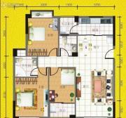 八桂凤凰城3室2厅2卫110平方米户型图