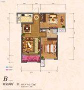�|方米兰国际城2室2厅1卫85平方米户型图