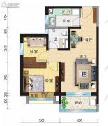 兰州碧桂园2室2厅1卫80平方米户型图