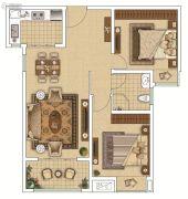 枫林天下・康城2室2厅1卫88平方米户型图