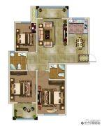 兰亭御城3室2厅2卫124平方米户型图
