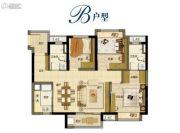 万科又一城3室2厅2卫90平方米户型图