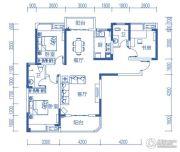 半山�庭3室2厅2卫122平方米户型图