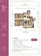 孝感碧桂园・桃源5室2厅3卫230平方米户型图