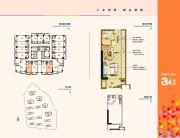 凤翔湖滨世纪1室1厅1卫47平方米户型图
