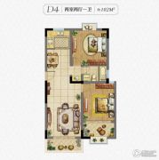 秀逸苏杭2室2厅1卫102平方米户型图