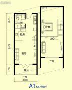 临海听涛1室1厅1卫57平方米户型图