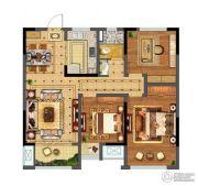 碧桂园仙林东郡3室2厅1卫99平方米户型图