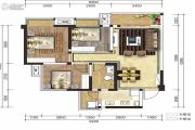融创凯旋东岸3室2厅1卫78平方米户型图