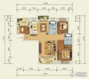 宜化・巴黎香颂3室2厅2卫113平方米户型图
