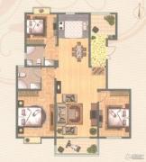 金轮星城3室2厅2卫131平方米户型图