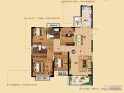 恒大帝景(备案名:聚亨景园)4室2厅2卫142平方米户型图