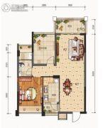 合信地王广场1室2厅1卫0平方米户型图