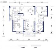 明发・高榜新城3室2厅2卫0平方米户型图