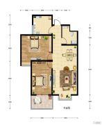 华建新城2室2厅1卫95平方米户型图