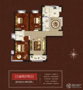 伟业・中央公园3室2厅2卫161平方米户型图