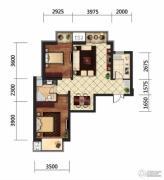 京贸国际城2室2厅1卫92平方米户型图