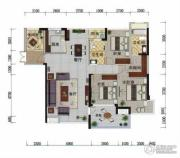 冠亚・国际星城2室2厅2卫131平方米户型图