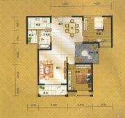 伟业・中央公园2室2厅1卫123平方米户型图