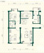 丽江苑3室2厅1卫89平方米户型图