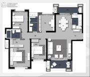 卓越浅水湾4室2厅2卫120平方米户型图