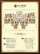 恒大翡翠华庭3室2厅2卫103--118平方米户型图