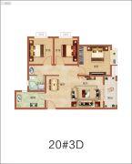 祝福红城3室2厅1卫0平方米户型图