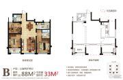 金色和庄3室2厅2卫0平方米户型图