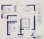 中建溪岸观邸2室2厅1卫90平方米户型图