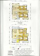 百盛公馆・世纪1号4室2厅2卫120平方米户型图