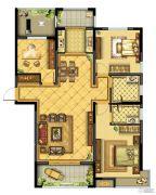 晋开四季城3室2厅2卫0平方米户型图