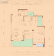 天悦湾3室2厅2卫116平方米户型图