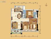 科恒岭南水岸3室2厅2卫87平方米户型图
