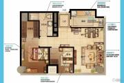 南京金奥缤润汇2室2厅1卫115平方米户型图