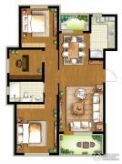 朗诗・新北绿郡3室2厅1卫112平方米户型图