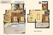 中建・柒号院3室2厅2卫115平方米户型图