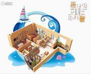 碧桂园十里银滩3室2厅1卫78--79平方米户型图