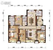 万科如园4室2厅2卫160平方米户型图