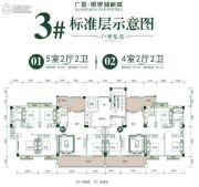 广垦铜锣湖新城5室2厅2卫139--158平方米户型图