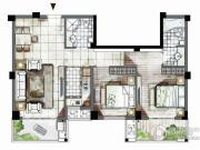 海西・未来区2室2厅2卫92平方米户型图