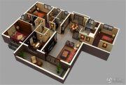 保利城4室2厅2卫171平方米户型图