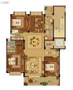 野风启城4室2厅2卫170平方米户型图