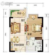 HOOARY欢乐岛1室1厅1卫0平方米户型图