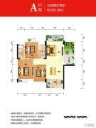 时代名城3室2厅2卫130--133平方米户型图