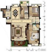 悦泰春天3室2厅2卫133平方米户型图