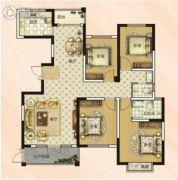 大郑东悦湖会4室2厅2卫157平方米户型图
