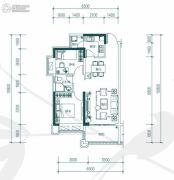中惠�h园2室2厅1卫75平方米户型图