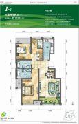 泾渭分明生态半岛3室2厅2卫103平方米户型图