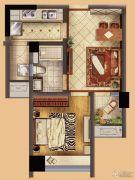 星河国际1室2厅1卫53平方米户型图